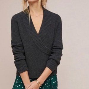 Anthro Ett:Twa Tessa Wrap Wool Alpaca Sweater M